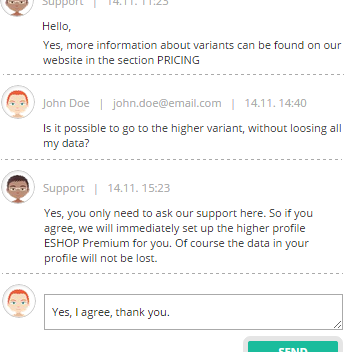 Fast customer support