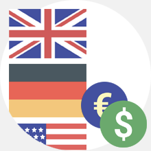 E-shop in different languages and currencies