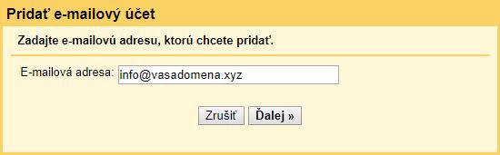 Hľadanie dátumu lokalít e-mailovú adresu